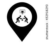 streetball vector. pin map icon.... | Shutterstock .eps vector #452918293