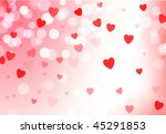 hearts on valentine's day love... | Shutterstock .eps vector #45291853