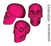 set of fuchsia 3d geometric... | Shutterstock .eps vector #452919013