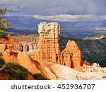 hoodoo rock formation in bryce... | Shutterstock . vector #452936707