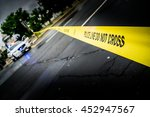 police lane  blurred   Shutterstock . vector #452947567