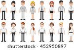 group of cartoon business... | Shutterstock .eps vector #452950897