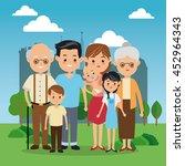 family cartoon concept...   Shutterstock .eps vector #452964343