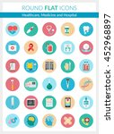 set of modern flat icons of... | Shutterstock .eps vector #452968897