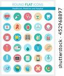 set of modern flat icons of... | Shutterstock .eps vector #452968897