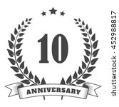 anniversary vintage badge and... | Shutterstock .eps vector #452988817