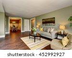 living room interior with green ... | Shutterstock . vector #452992927