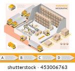 isometric info graphic... | Shutterstock .eps vector #453006763