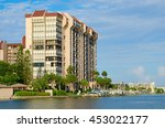 beautiful waterside waterfront... | Shutterstock . vector #453022177
