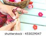 women knit and crocheting | Shutterstock . vector #453029047