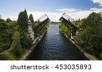 montlake bridge  double leaf... | Shutterstock . vector #453035893