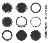 set of round badge shape | Shutterstock .eps vector #453045103
