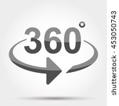 360 degrees view sign icon   Shutterstock .eps vector #453050743