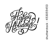 black and white calligraphic... | Shutterstock .eps vector #453055453