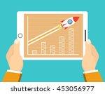 successful startup business... | Shutterstock .eps vector #453056977