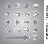 arrow set vector grey | Shutterstock .eps vector #453085837
