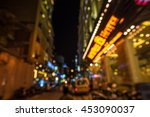 the lighting in the city  | Shutterstock . vector #453090037