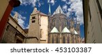 st. vitus cathedral  roman... | Shutterstock . vector #453103387