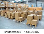 stack of cartons at logistics... | Shutterstock . vector #453103507