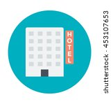 hotel building vector icon | Shutterstock .eps vector #453107653
