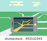 flat mobile phone vector... | Shutterstock .eps vector #453132343