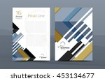 cover design of annual report... | Shutterstock .eps vector #453134677