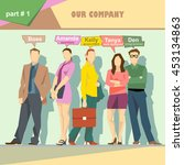 business company roles... | Shutterstock .eps vector #453134863