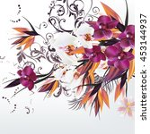 fashion vector background with... | Shutterstock .eps vector #453144937