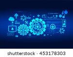 technology innovation... | Shutterstock .eps vector #453178303