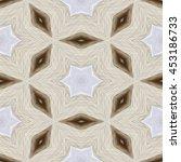 kaleidoscopic beige blue flower ... | Shutterstock . vector #453186733