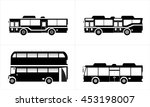 bus pattern  | Shutterstock .eps vector #453198007