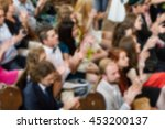 blur people audience clapping. | Shutterstock . vector #453200137