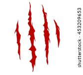 scratches of animal or monsters ... | Shutterstock .eps vector #453209653