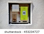 Small photo of Paris, France - July 16, 2016 : New smart electric meter Linky from ERDF (Electricity Network Distribution France)
