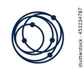 orbit logo vector. | Shutterstock .eps vector #453234787
