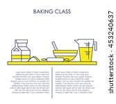 baking class brochure   flyer... | Shutterstock .eps vector #453240637