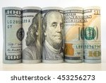 Rolls Dollar Banknotes. Dollar...