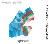 djibouti  map in geometric... | Shutterstock .eps vector #453264517