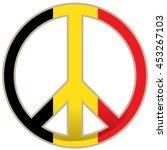 isolated flag of belgium ... | Shutterstock .eps vector #453267103
