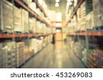Blurred Image Of Shelf In...