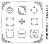 frames. decorative elements.... | Shutterstock .eps vector #453271273