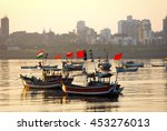 Fishing Trawlers With Bright...