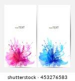 fantasy watercolor vector... | Shutterstock .eps vector #453276583