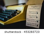 Typewriter And Instructions