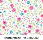 vector seamless pattern. cute... | Shutterstock .eps vector #453289003