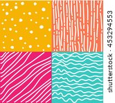 set of abstract seamless...   Shutterstock .eps vector #453294553