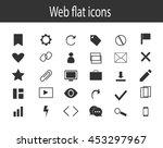 web icons set  vector  | Shutterstock .eps vector #453297967