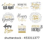 easter wishes overlays ... | Shutterstock . vector #453311377
