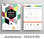 annual report brochure template ... | Shutterstock .eps vector #453319783