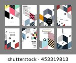 6 annual report brochure... | Shutterstock .eps vector #453319813
